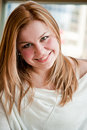 Portrait of woman smiling Royalty Free Stock Images