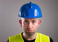 Portrait of a worker expressing negativity Royalty Free Stock Photo