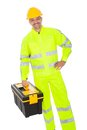 Portrait of worker wearing safety jacket Royalty Free Stock Photography