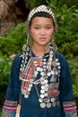 Portrait young Akha in Laos Stock Photo