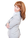 Portrait of a young attractive business woman Royalty Free Stock Photo