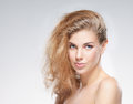Portrait of a young and attractive Caucasian woman Royalty Free Stock Photo