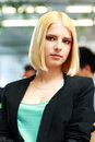 Portrait of a young beautiful businesswoman in office Royalty Free Stock Images