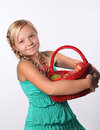 Portrait of young beautiful teen girl Royalty Free Stock Photo