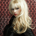 Portrait of the young blonde woman Royalty Free Stock Photo