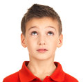 Portrait of young boy looking up Royalty Free Stock Image