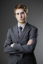 Portrait of young business man Stock Images