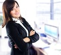 Portrait young business woman office Royalty Free Stock Photos