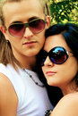 Portrait of a young cool couple Royalty Free Stock Photography
