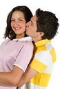 Portrait of young couple kissing Royalty Free Stock Photography
