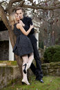 image photo : Portrait of young couple in love posing