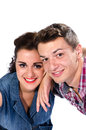 Portrait of young couple smiling to camera Royalty Free Stock Photo