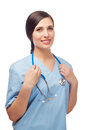 Portrait of young doctor with stethoscope Royalty Free Stock Photography