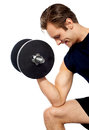 Portrait of young fit trainer working out Stock Photo