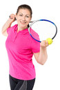 Portrait of a young girl who loves to play tennis Royalty Free Stock Photo