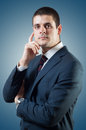 Portrait young good looking male posing like politician businessman Royalty Free Stock Photo