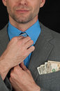 Portrait young handsome business man money Stock Photo