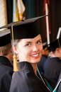 Portrait of young happy student (shallow dof) Royalty Free Stock Photo