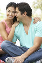 Portrait Of Young Hispanic Couple In Park Royalty Free Stock Photos