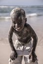 Portrait of a young kid smiling at the camera senegal saint louis december looking and living in saint louis ancient capital Stock Photo