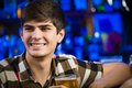 Portrait of a young man at the bar fun nightlife Stock Photos
