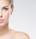 Portrait of a young naked woman in a makeup Stock Images