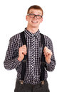 Portrait of a young nerd Royalty Free Stock Photography