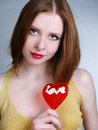 Portrait of young redheaded woman Royalty Free Stock Photography