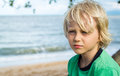 Portrait of a young worried boy Royalty Free Stock Photo