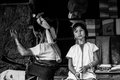 Portraits karen hill s tribes bw chiang rai north of thailand july th Royalty Free Stock Photos