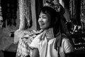 Portraits karen hill s tribes bw chiang rai north of thailand july th Stock Photography