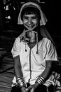 Portraits karen hill s tribes bw kare chiang rai north of thailand july th Stock Photography