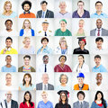 Portraits of multiethnic mixed occupations people Royalty Free Stock Photos