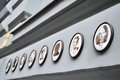 Portraits of the victims outside the house of terror budapest hungary april haza in budapest a museum contained a memorial Royalty Free Stock Photos