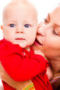 Portrat of mother and baby Stock Photo
