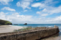 Portreath Beach and harbour cornwall Stock Photos