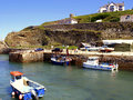 Portreath harbour cornwall the quaint at north england uk Stock Images