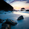Portreath Sunset Royalty Free Stock Photos