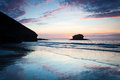 Portreath Sunset Stock Image