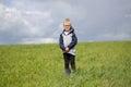 Portret blondynki chłopiec Zdjęcia Royalty Free