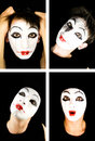 Portret of the mime Royalty Free Stock Photo