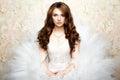 Portret piękna panna młoda ślubna fotografia Zdjęcie Stock