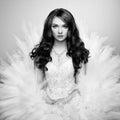 Portret piękna panna młoda ślubna fotografia Zdjęcia Stock