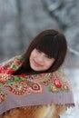 Portret van een jong brunette Stock Foto