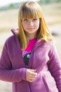 Portret van een jonge blondevrouw Royalty-vrije Stock Afbeelding