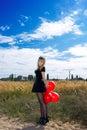 Portret van een jonge blondevrouw Stock Foto's