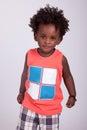Portret van een leuke zwarte babyjongen Stock Foto's