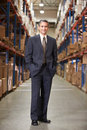 Portret van manager in warehouse Royalty-vrije Stock Foto