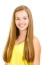 Portret van mooi tienermeisje het glimlachen Royalty-vrije Stock Foto