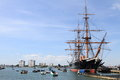 Portsmouth harbour beautiful in southern england Stock Photo